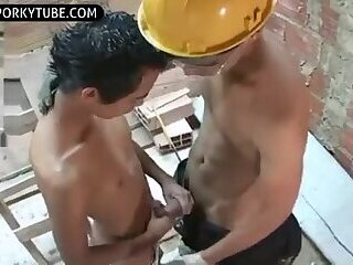 Worker cute latin boys hot sex and cumshots