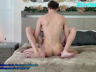Harley and Jacob have mutual anal fucing each other on webcam