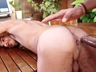 Dominik Sarado fucked outdoors by Sly