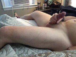 ginger dad masturbates - cums hard and loud with fleshlight