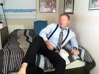 Travis Steel Dresses Up And Jerks Off