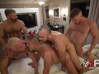 Gay Marriage Orgy Part 2 - Brian Bonds, Mason Lear, Ryan Carter, Digger, Cain Marko