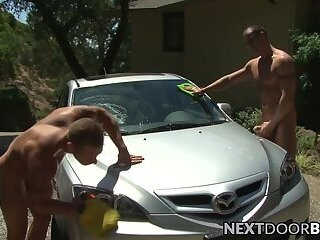 Jocks Spencer Reed and Aryx Quinn blowing dicks outdoor