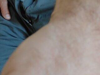 Big bulge, big cock, boxers and fur
