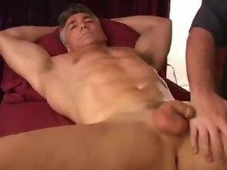 Older man cums