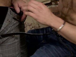 Daddy`s unbuttoned shirt seduces stepson