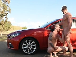 Fucking on the side of the road in public