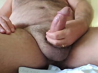 Me DaDDyBigBEAR Jerking Off On Bed
