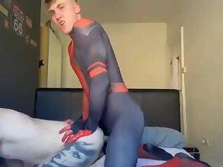 Hard Fucking&Sucking with SpiderMan