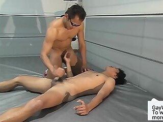 Asian athletes' cumshot compilation - Full video